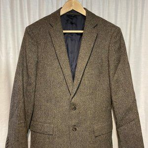 J CREW Sz 38 S Brown Speck Tweed Moon Wool Blazer